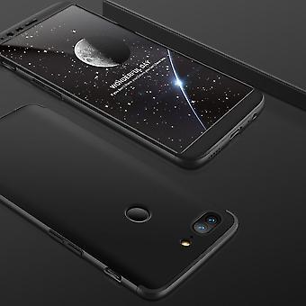 Schutzhülle Case Cover für OnePlus 5T Zubehör Schwarz Etui Tasche Full Protect