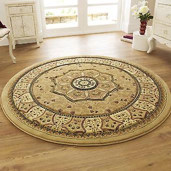 Kreisförmige Erbe 4400 Teppiche In Beige