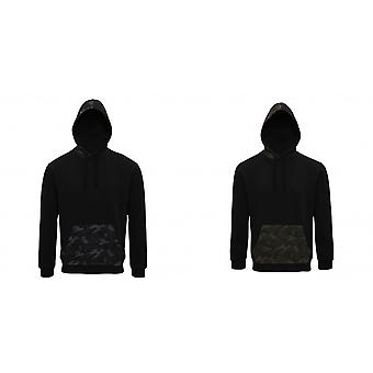 Asquith & Fox Mens Camo Trimmed Hoodie