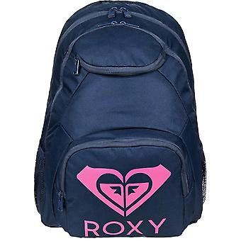 Roxy Shadow Swell Solid Logo Backpack in Mood Indigo