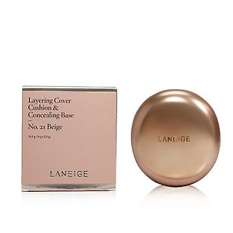 Laneige Layering Cover Cushion & Concealing Base - No. 21 Beige - 16.5g/0.55oz