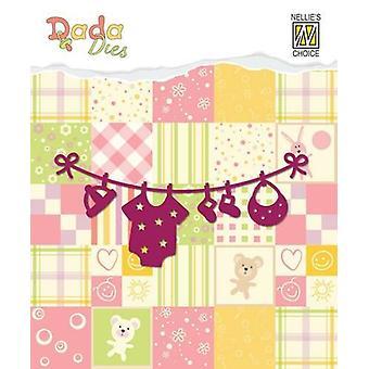 Nellie's Choice DADA Baby Die - tørresnor DDD003 8 x 3,7 cm
