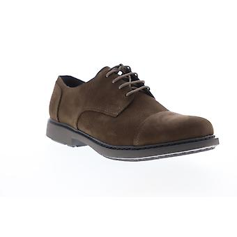 Camper Neuman  Mens Brown Nubuck Leather Casual Lace Up Oxfords Shoes