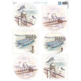 Feuille de découpage Marianne Design Mattie-apos;s Mooiste - Boats MB0180 A4