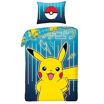 Pokémon Blue Single Cotton Duvet Cover Set