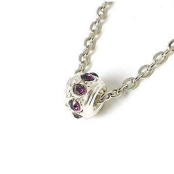 """The Olivia Collection Sparkly Purple Crystal Bead On 18"""" Chain"""