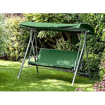 3 Seater Green Garden Swing Baldakin For Argos Malibu vandafvisende Swing Seat