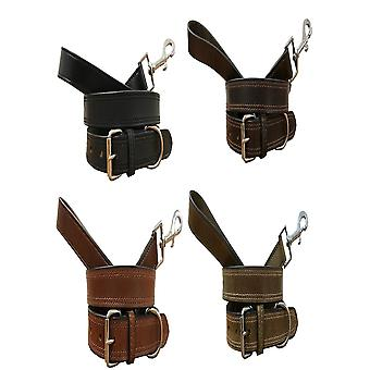 Bradley crompton genuine leather matching pair dog collar and lead set cdkupb891