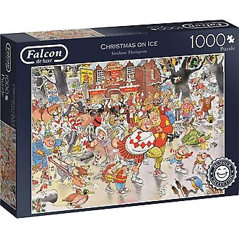 Falcon De Luxe Humour Jigsaw Puzzle - Christmas on Ice, 1000 Piece