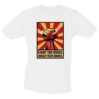 Vecht tegen het Virus T-shirt Was je handen