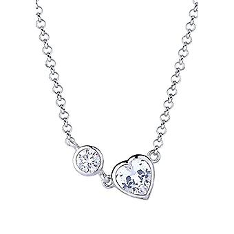 Elli - Women's necklace with heart-shaped pendant - silver 925 - white zircons with heart cut - 0108532714_45