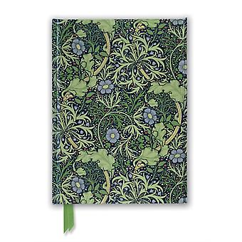 William Morris Seaweed Wallpaper Design Foiled Journal by Created by Flame Tree Studio