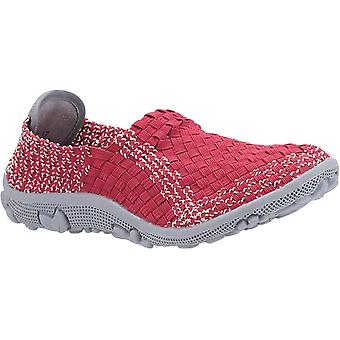 Fleet & Foster Womens Freida Slip On Summer Shoe Red