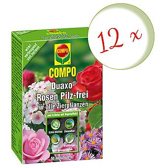 Sparset: 12 x COMPO Duaxo® Roses Mushroom-Free for all ornamental plants, 50 ml