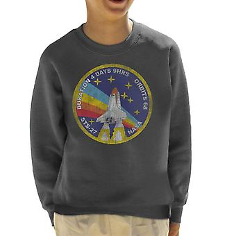 NASA STS 27 Atlantis Mission Badge Distressed Kid's Sweatshirt