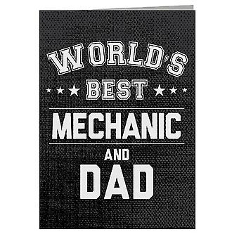 Worlds Best Mechanic And Dad Greeting Card