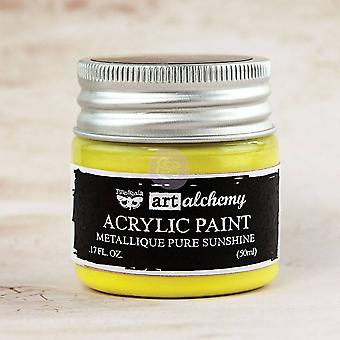 Finnabair Art Alchemy Acrylic Paint Metallique Pure Sunshine