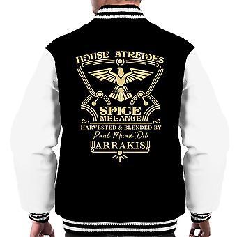 Dune House Atreides Spice Melange Men's Varsity Jacket
