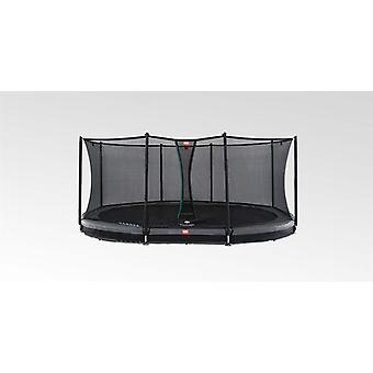 BERG Grand Favorit InGround 520 trampoline + veiligheidsnet comfort grijs