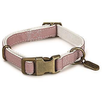 Designed By Lotte Nylon Collar - Virante Light Pink - 15mm x 26- 40cm