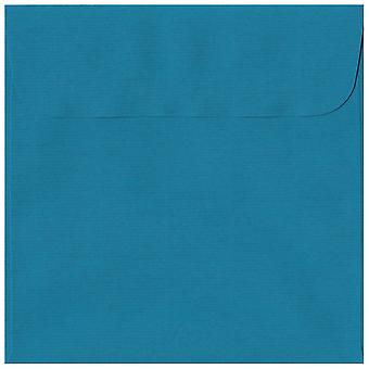 Benzina Peel/guarnizione blu 160mm buste blu colorato quadrato. 100gsm Swiss Premium carta FSC. 160 mm x 160 mm. portafoglio stile busta.
