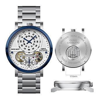 Carlo Cantinaro CC1004GB002 Men's Watch Quartzmatic GMT