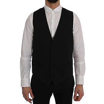 Dolce & Gabbana Musta Henkilökunta Puuvilla Liivi SIG60362-2