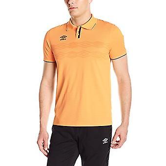 Umbro Men's UX Polo Top, Orange Pop/Black, Small, Orange Pop/Black, Size Small