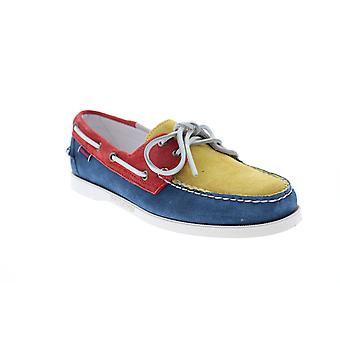 Sebago Portland Jibs  Mens Blue Loafers & Slip Ons Boat Shoes