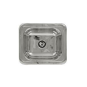 Lavandino rettangolare drop-in entertainment/prep con superficie liscia - acciaio inossidabile lucido