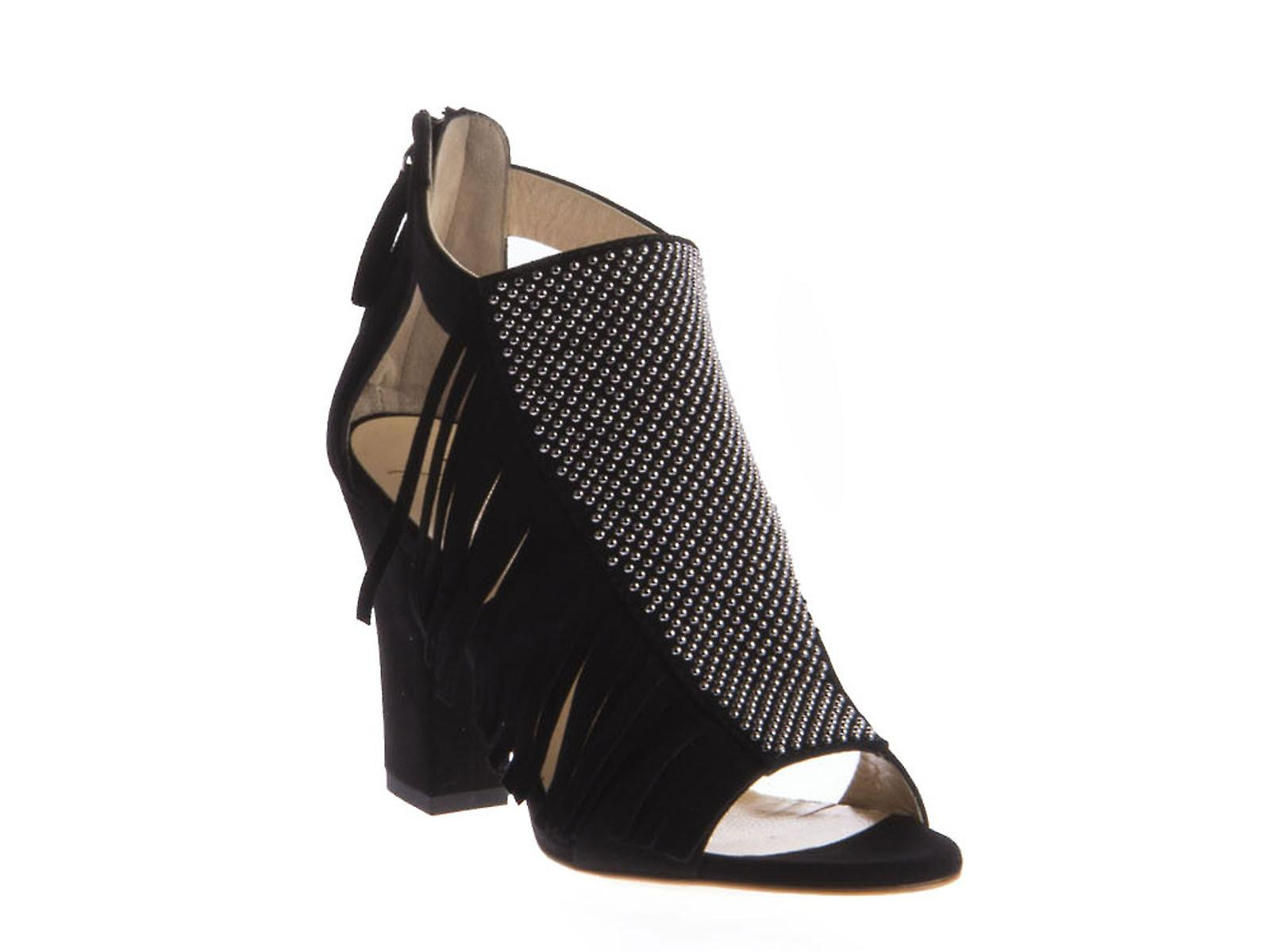 Giuseppe Zanotti heeled sandals in black suede leather NjTsS