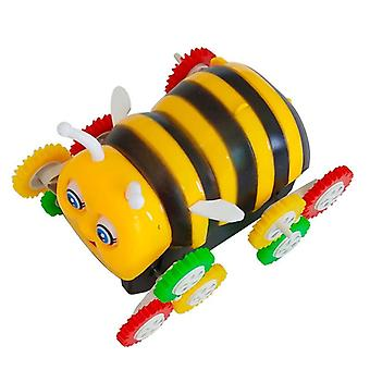 Cute Electric Cartoon - 12 Wheels Bee And 360 Degree Tumbling Car Toy