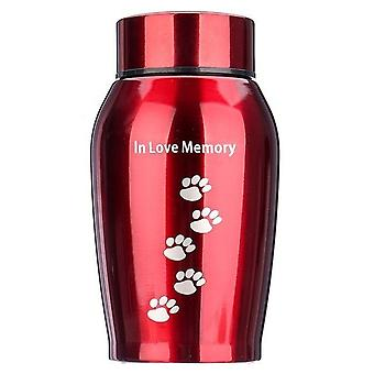 Stainless Steel Pets Dog, Cat, Birds, Mouse Cremation Ashes Urn Keepsake Casket