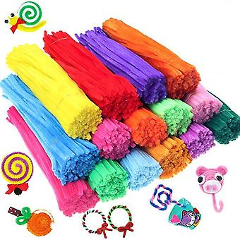 Kids Creative Colorful Diy Plush Chenille Sticks Stem Pipe Cleaner Educational