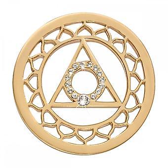 Nikki Lissoni 5 Chakra Vissudha Médio Ouro Banhado Coin C1495GM