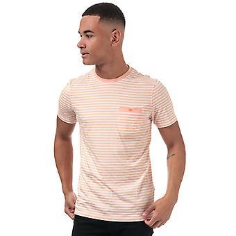 Men's Ted Baker Russ Raidallinen Puuvilla T-paita oranssi