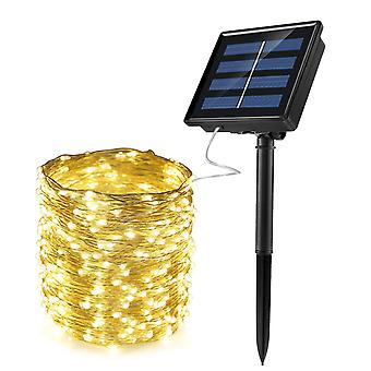 Solar Powered String Lights Vandtæt Fairy Kobber Wire Lys til Party Patio Gardenyardweddingchristmas Decor