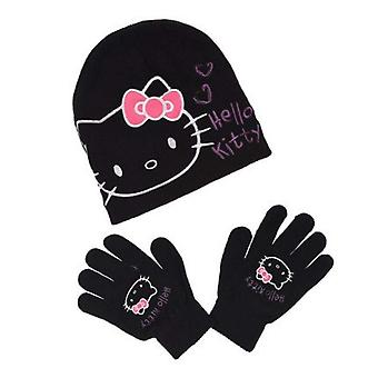 Hello kitty girls hat and gloves set hk3437hat