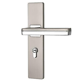 Led Light Door Handles For Interior Zinc Alloy Rosette And Plate Lever Set Wood Handle Lock