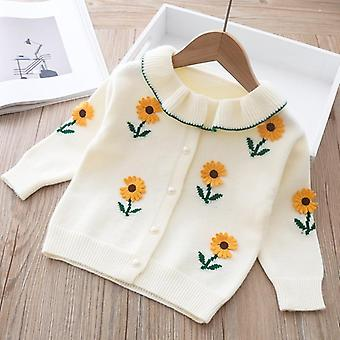 Flower Emboidered, Spring Cardigan/jackets For Baby