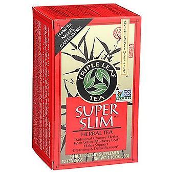 ثلاثية ورقة الشاي سوبر سليم الشاي العشبية، 20 أكياس