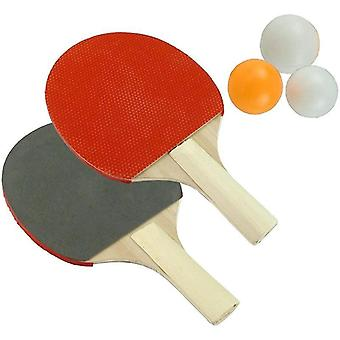 Bordtennisracket med 3 pingisbollar set