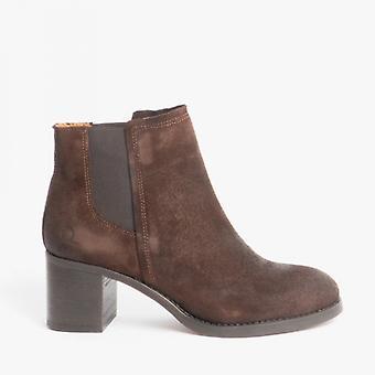 Chatham Savannah Ladies Suede Ankle Boots Dark Brown