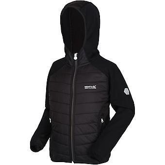Regata Kids Kielder IV Leve Hooded Hybrid Outdoor Walking Jacket - Preto