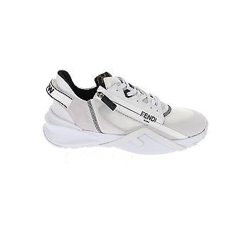 Fendi 7e1392ekvf0agx Men's White Fabric Sneakers