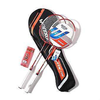 Professional Carbon Fiber Badminton Racket Set With  Shuttlecocks And Carrying