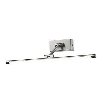 Moderne LED-foto lamp satijn nikkel, warm wit 3000K 560lm
