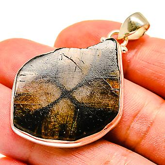 "Chiastolite 925 Sterling Silver Pendant 2""  - Handmade Boho Vintage Jewelry PD741746"