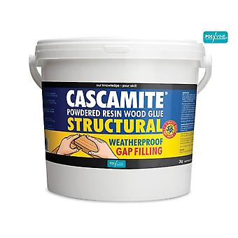 Polyvine Cascamite One Shot Structural Wood Adhesive Tub 3kg