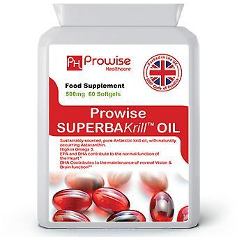 Superba Krill Oil 500mg 60 Softgels 1000mg Per Serving